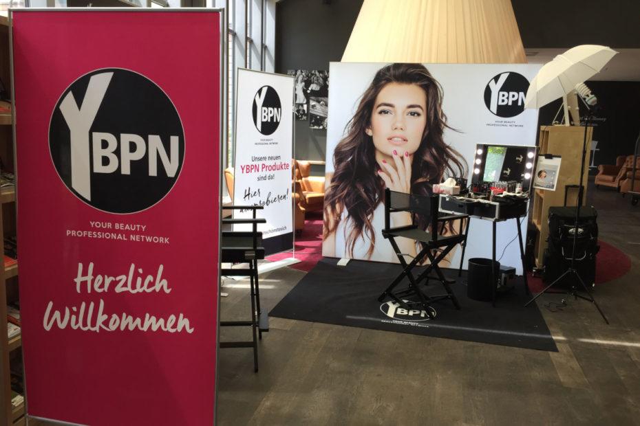Messe Planung und Umsetzung des Messestandes für YBPN Beauty Alliance Gesellschaftertreffen